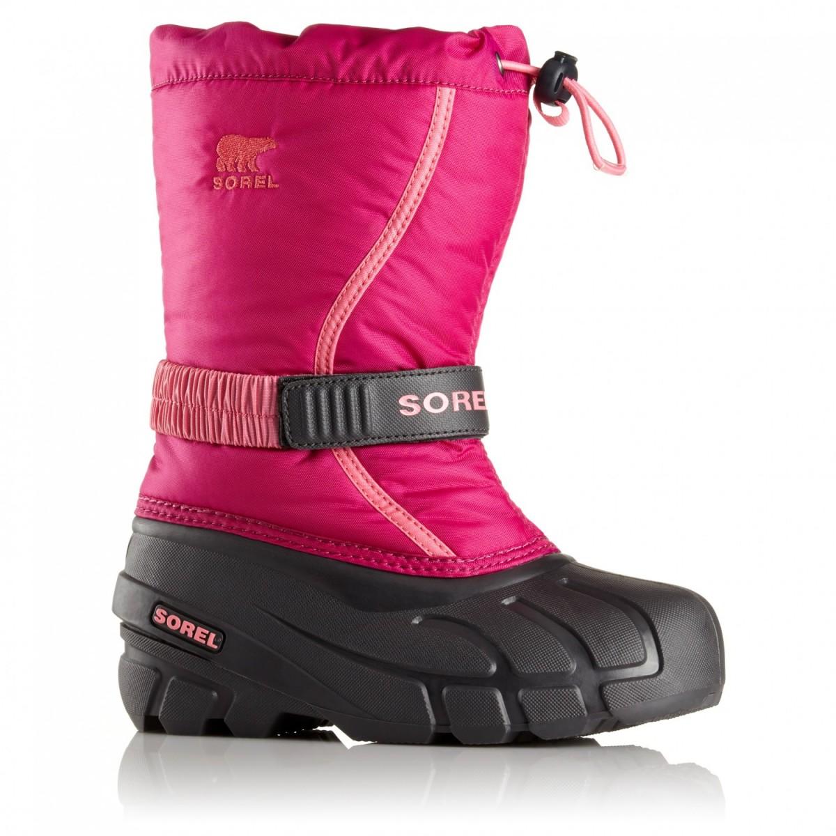 Sorel Childrens Flurry - scarpa neve bambina fuxia  994ebf35047