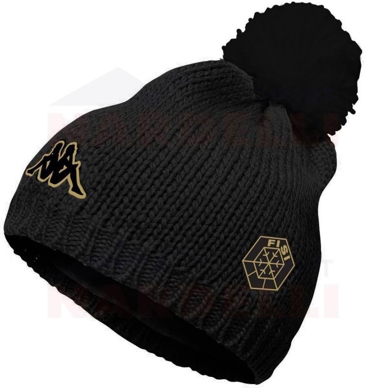 kappa 6Cento Flock FiSi nero - cappello sci con pon pon  647b8896d806