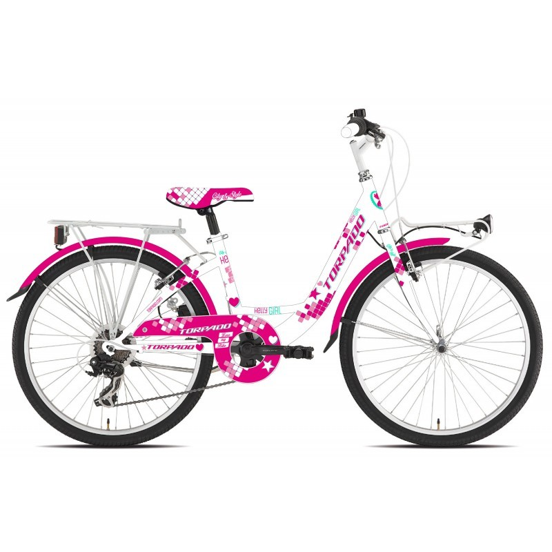 T611 Kelly Bici Bambina 24 6 Velocità Rosa