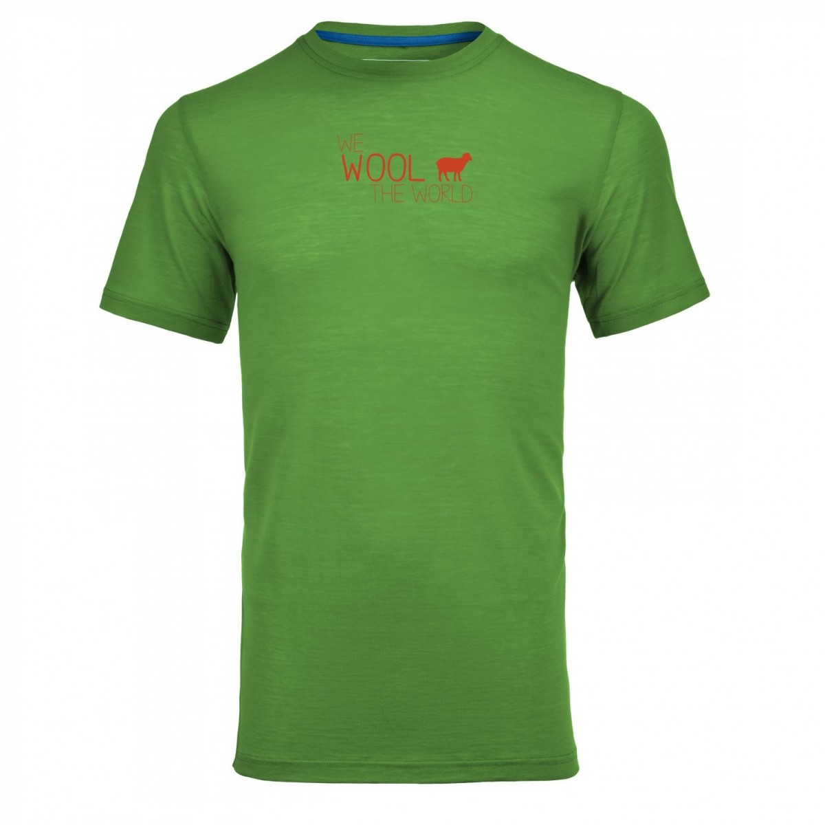 770b3e27f7 T-Shirt Uomo Montagna Ortovox Merino Cool World Absolut Green