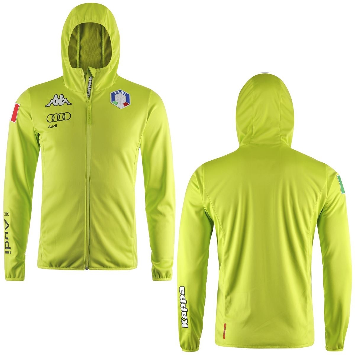 Acquista Kappa 6Cento 642 FISI - Giacca sci Soft Shell lime ... cadc362dd6c3