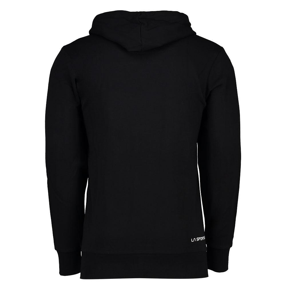 769d99122990f7 La Sportiva Logo Hoody felpa uomo estiva - nera - spalla | Mancini Store