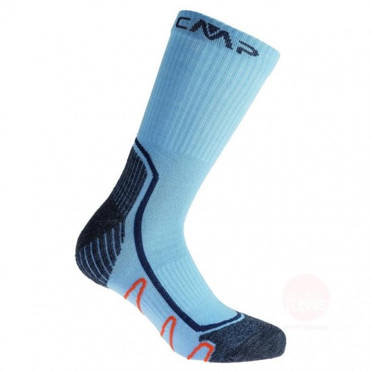 Kids Trekking Socks Poly Med - calze bambino sportive -  blue acciaio