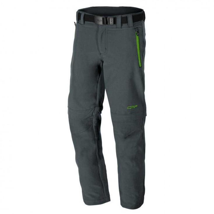 CMP Boy Zip Off Pant - Pantaloni bambino da montagna - grigio/verde   Mancini Store