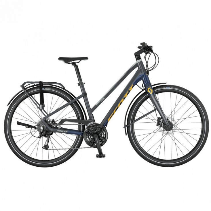 Scott Silence 30 Lady S - city bike donna -blu-gialla | Mancini Store