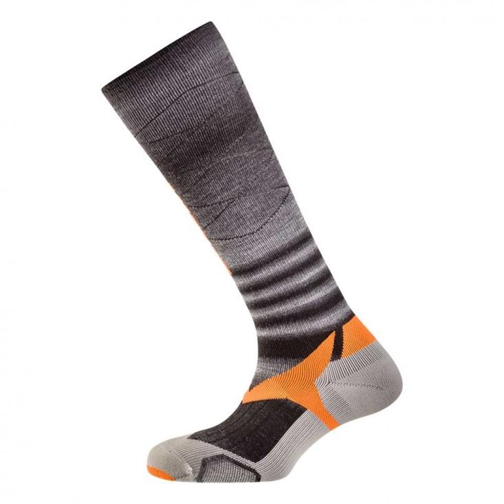 Salewa Trek Balance Knee Sock - calze montagna - nero/arancio