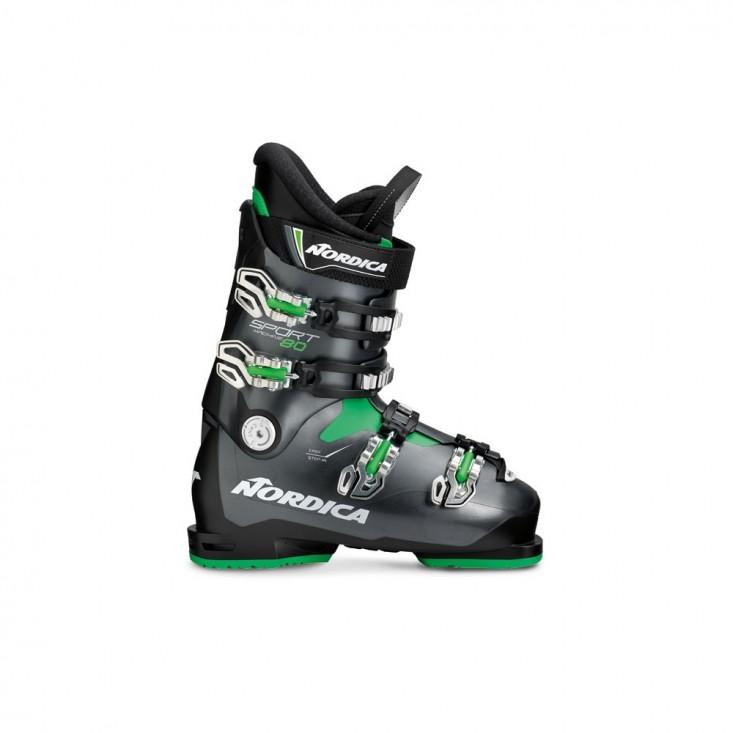 Nordica Sportmachine 80 - Scarponi sci uomo 2018 nero/antracite/verde   Mancini Store