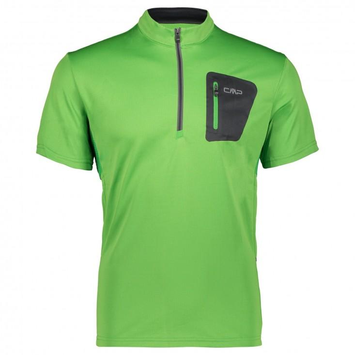T-Shirt Cmp Free Bike verde - maglia ciclismo uomo manica corta | Mancini Store