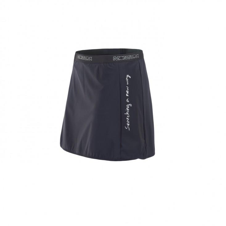Montura Run Skirt + Shorts - gonna running con pantaloncino interno nera   Mancini Store