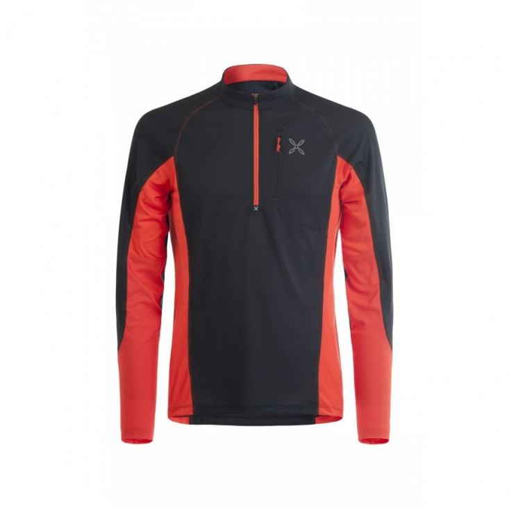 Montura Outdoor Pocket Zip T-Shirt nera/rossa | Mancini Store