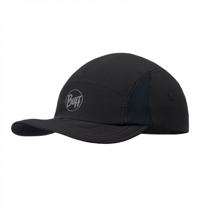 Buff Run Cap Solid Black - cappellino running | Mancini Store