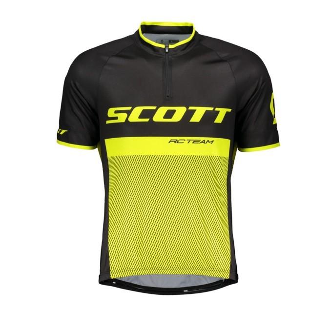 Scott Rc Team 20 - maglia ciclismo uomo nera/gialla | Mancini Store