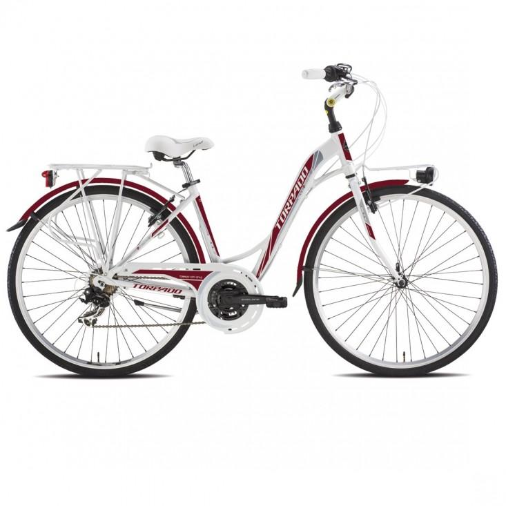 Torpado T436 Partner - city bike - 21V rossa   Mancini Store