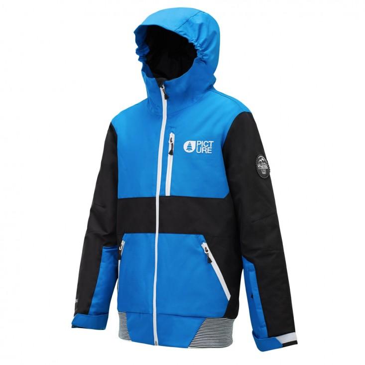 Picture Slope JKT - giacca snowboard bambino nera/blue | Mancini Store