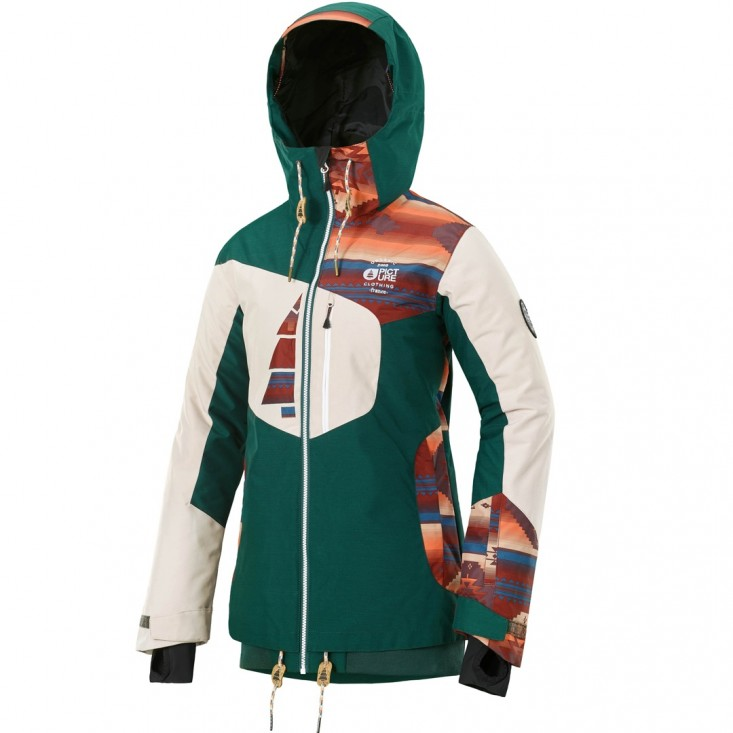 Picture Lander JKT - giacca snowboard donna emerald | Mancini Store