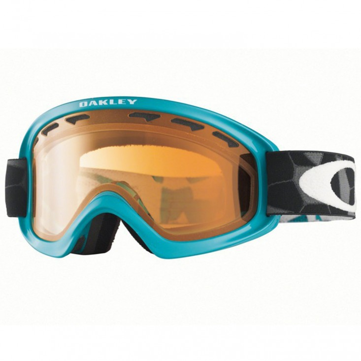 Oakley 02 XS Snow Cell Blocked Teal - maschera snowboard | Mancini Store