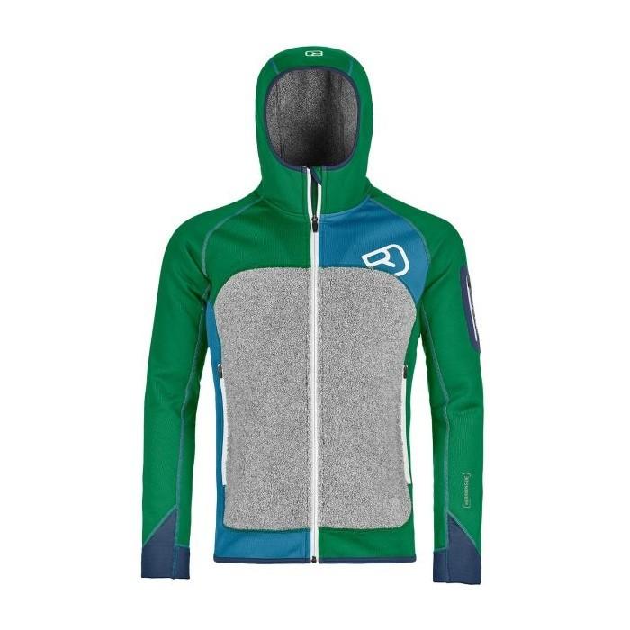 e383bede16347a Ortovox Fleece Plus Hoody M Irish Green - secondo strato uomo | Mancini  Store