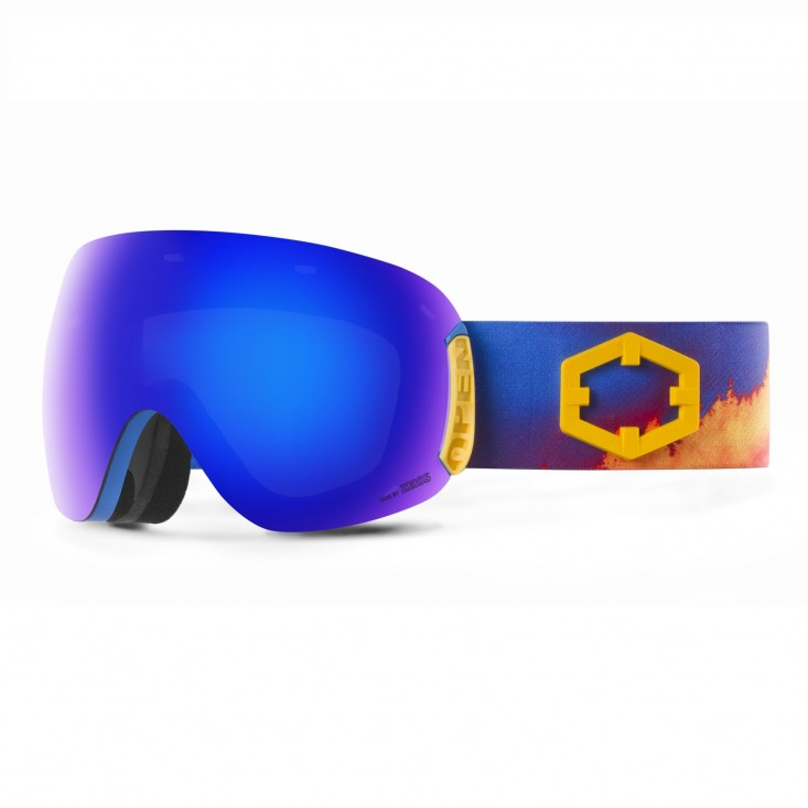 Out Of Open WildFire BLUE MCI + Pesimmon Bonus Lens - maschera snowboard | Mancini Store