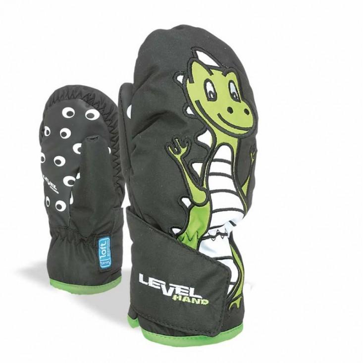 Level Animal Mitt - Moffole da sci per bambino Olive | Mancini Store