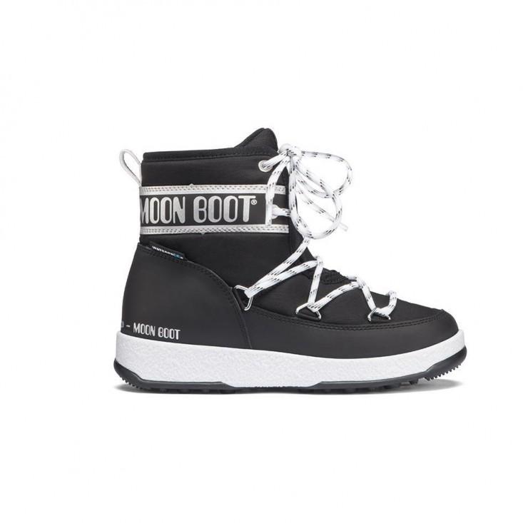 Moon Boot Jr Boy Mid Wp neri/silver - doposci bambino | Mancini Store