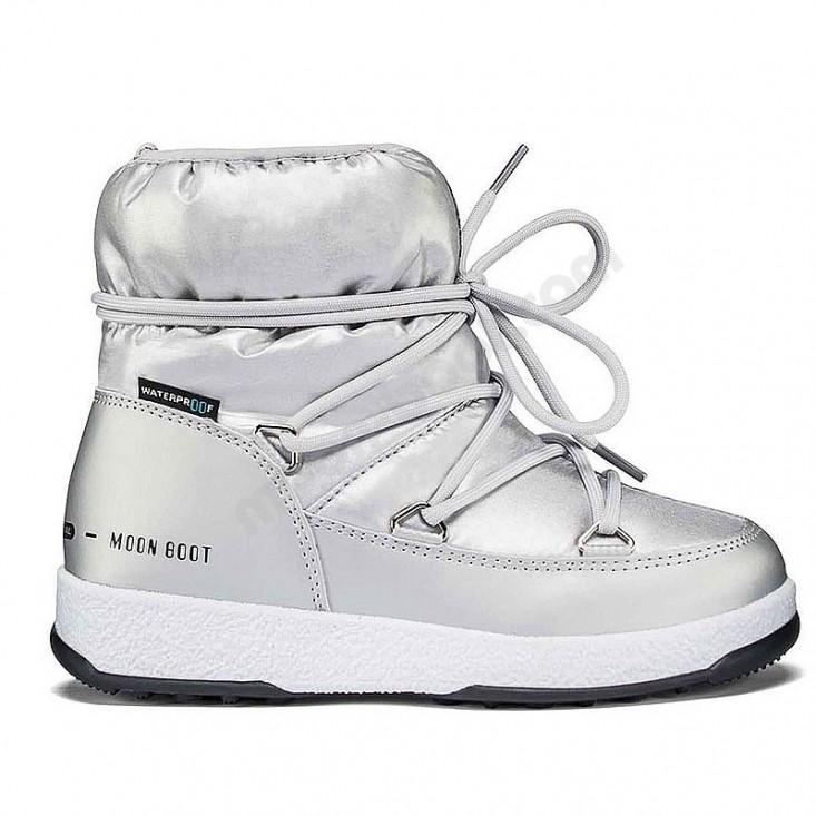 Moon boot Low Nylon Wp Jr silver - doposci bambina 28-35 | Mancini Store