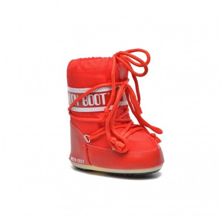 Moon Boot Mini Nylon rossi bambino | Mancini Store
