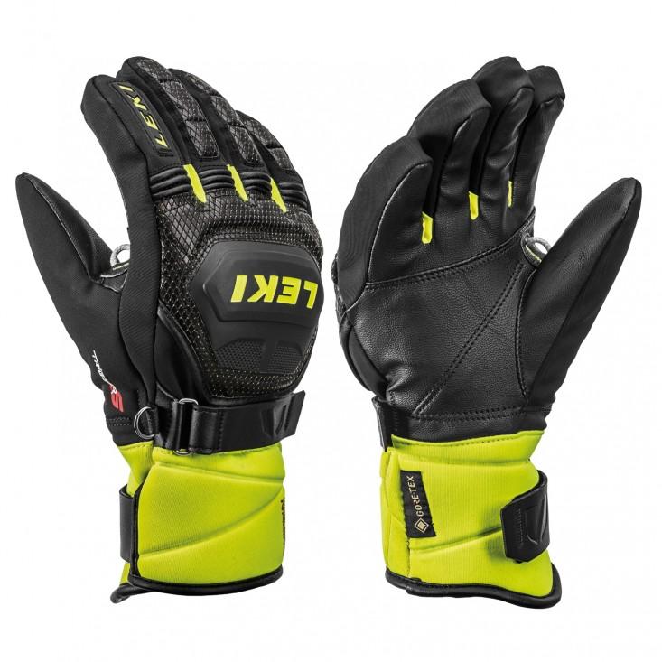 Leki WorlCup Race Coach Flex S GTX Black Yellow - guanti sci uomo   Mancini Store