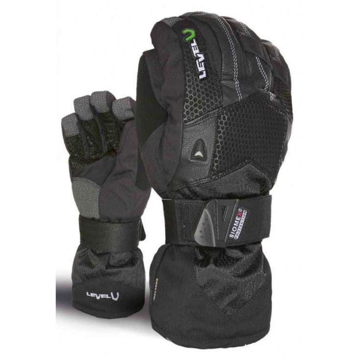 Level Super Pipe Gore Tex Black - guanti snowboard uomo | Mancini Store