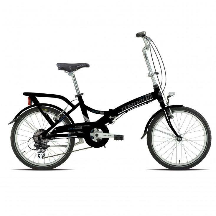 Bici Pieghevole In Alluminio.T170 Cayman Nera Bici Pieghevole In Alluminio 2019
