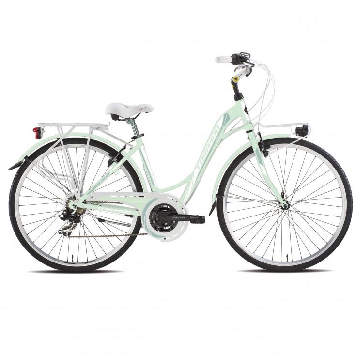 Torpado T441 Partner verde - city bike donna 2019 | Mancini Store