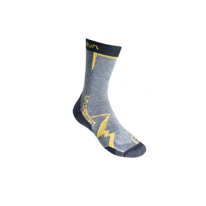 La Sportiva Mountain Socks - calze trekking grigie/gialle | Mancini Store