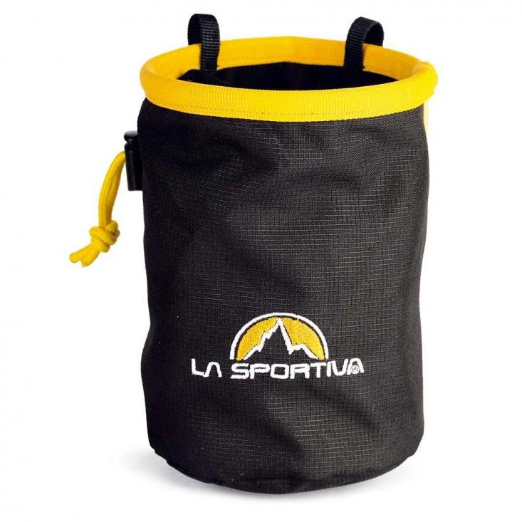 La Sportiva Chalk Bag - sacca portamagnesite nera/gialla | Mancini Store