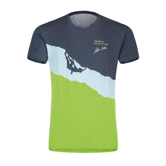 promo code aa262 ee6fe Silence T-Shirt Uomo Montagna Piombo Green 2019