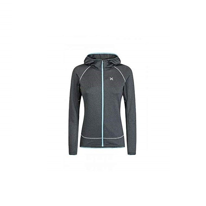Thermal Grid Hoody Secondo Strato Donna Piombo Blue 2019