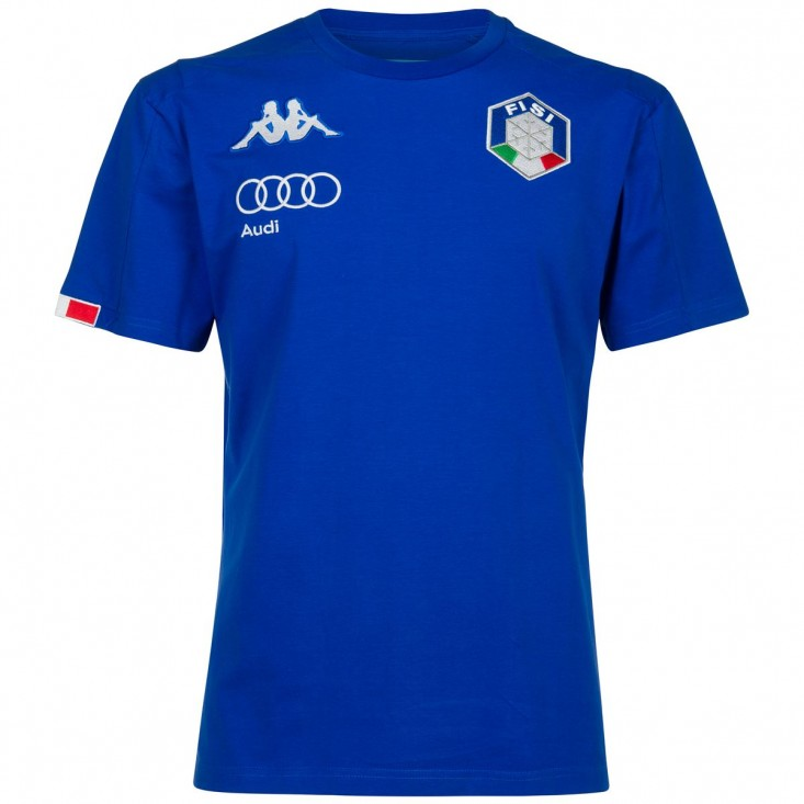 6 Cento Abou 3F FISI T-Shirt Unisex Azzurro