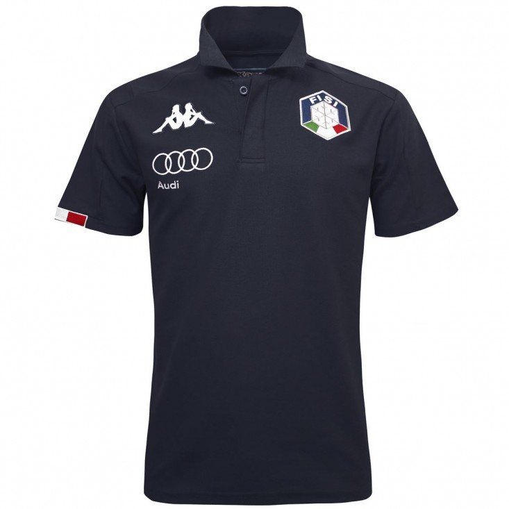 6 Cento Abiang 3F FISI Polo Unisex Blu Notte