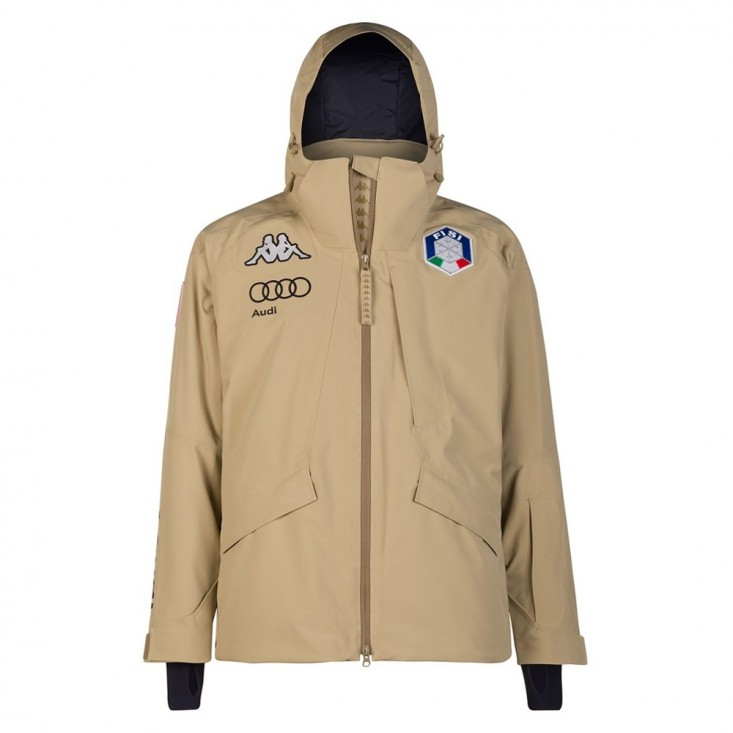 Kappa 6Cento 611 FISI - giacca sci uomo beige | Mancini Store