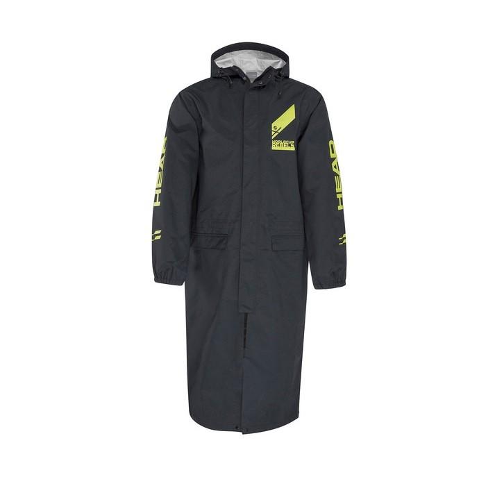 Race Rain Coat Mantella Pioggia Unisex Black Yellow