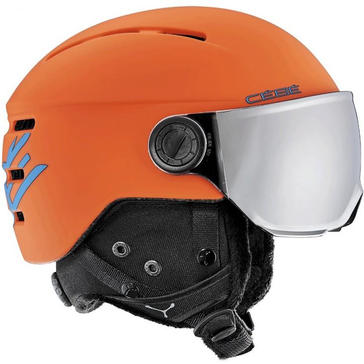 Cébé Fireball Junior Orange Blue - casco da sci bambino con visiera | Mancini Store