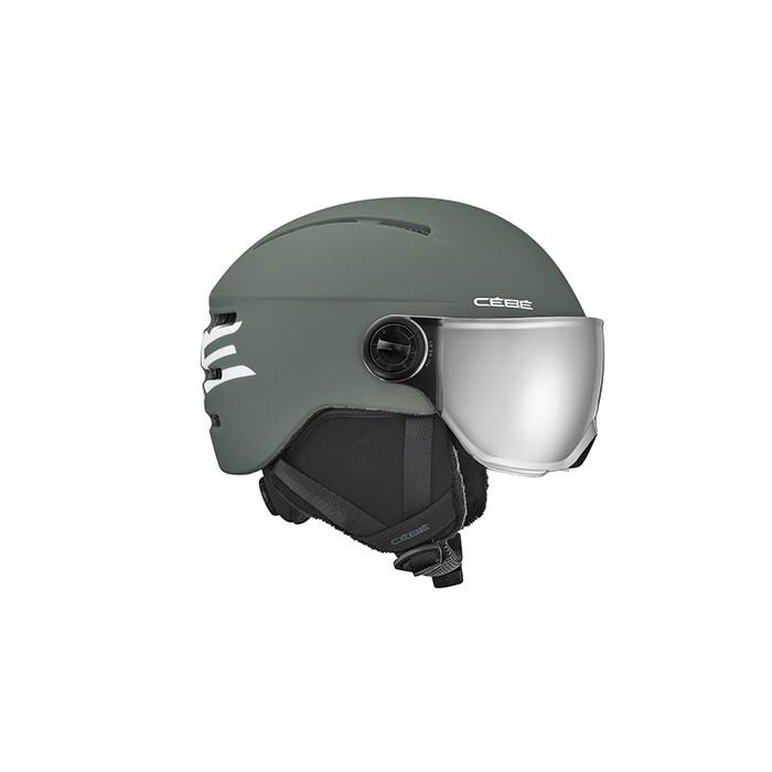 Cébé Fireball Junior Grey White - casco da sci bambino con visiera | Mancini Store