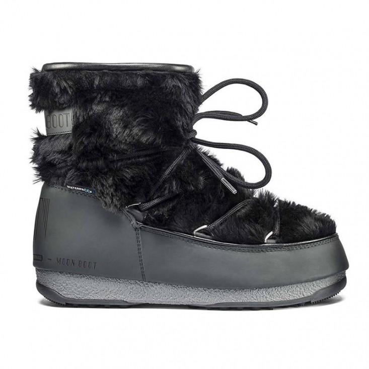 Moon Boot Monaco Low Fur WP Black