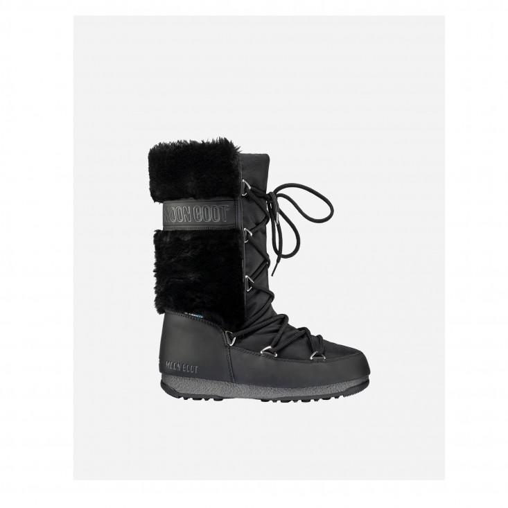 Moon Boot Monaco Fur WP Black