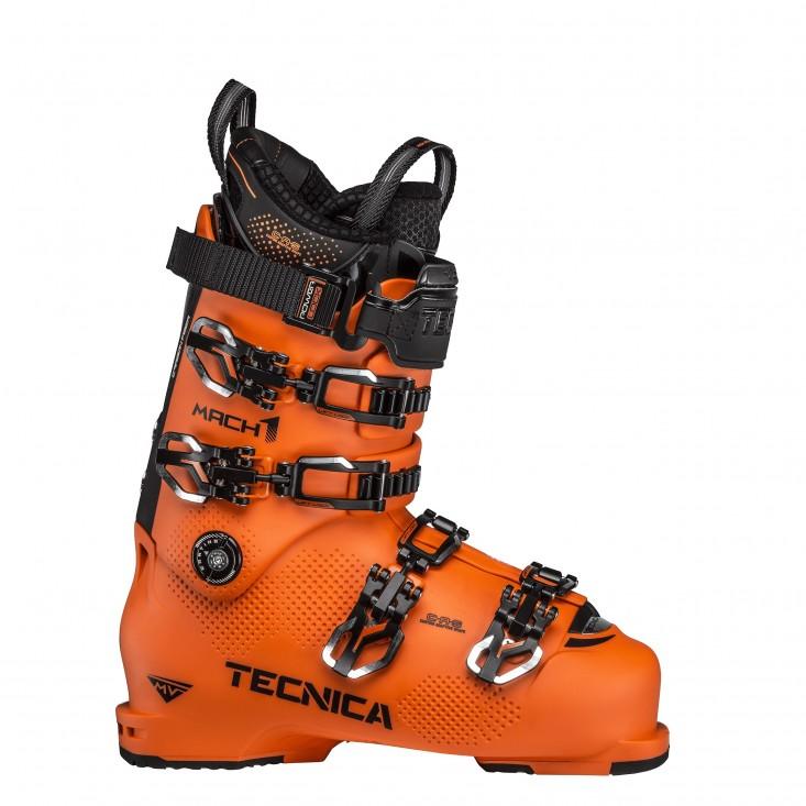 Tecnica Mach1 HV 130 - scarponi sci uomo arancio nero   Mancini Store