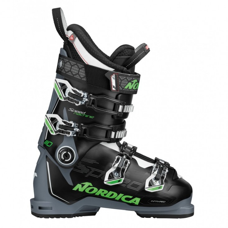 Nordica Speedmachine 110 Black Grey Green - scarponi sci uomo    Mancini Store