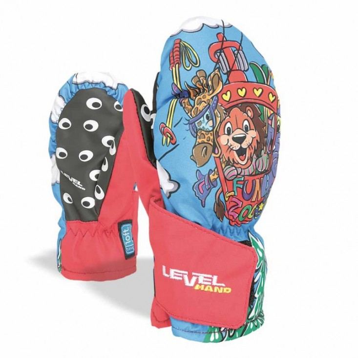 Level Animal Mitt - Moffole da sci per bambino Red | Mancini Store