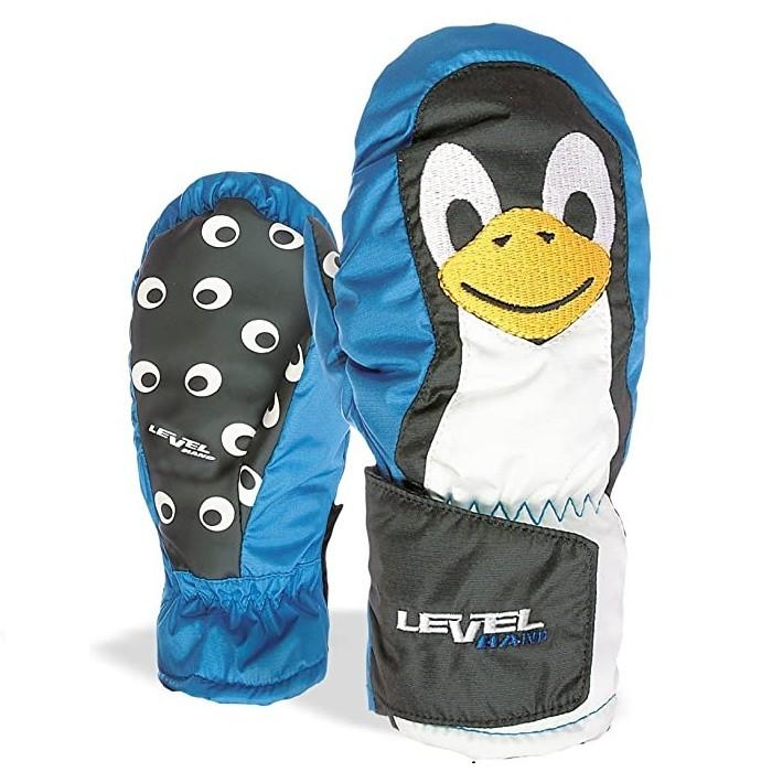 Level Animal Mitt - Moffole da sci bambino azzurre | Mancini Store