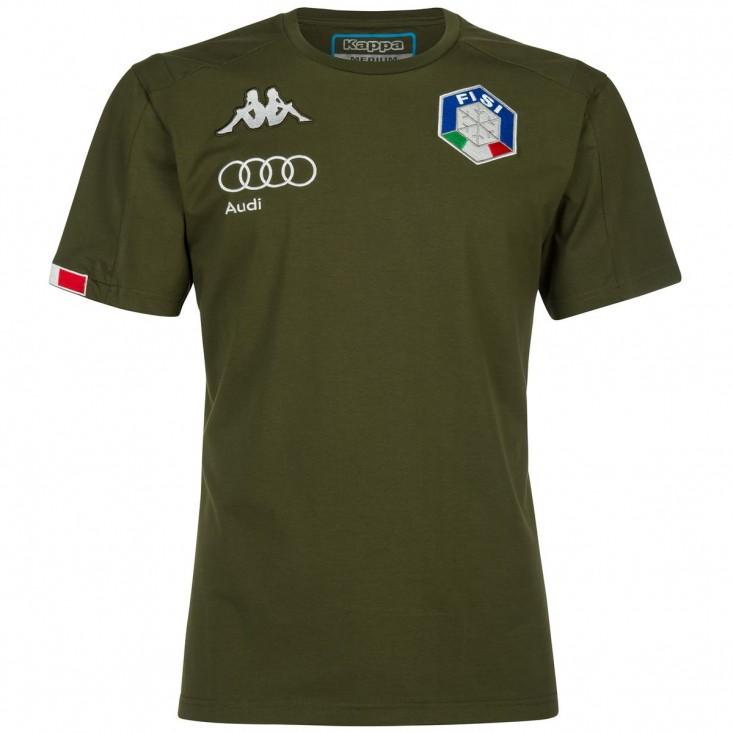 Kappa 6Cento Abou 3F FISI Verde Militare - T-Shirt unisex | Mancini Store