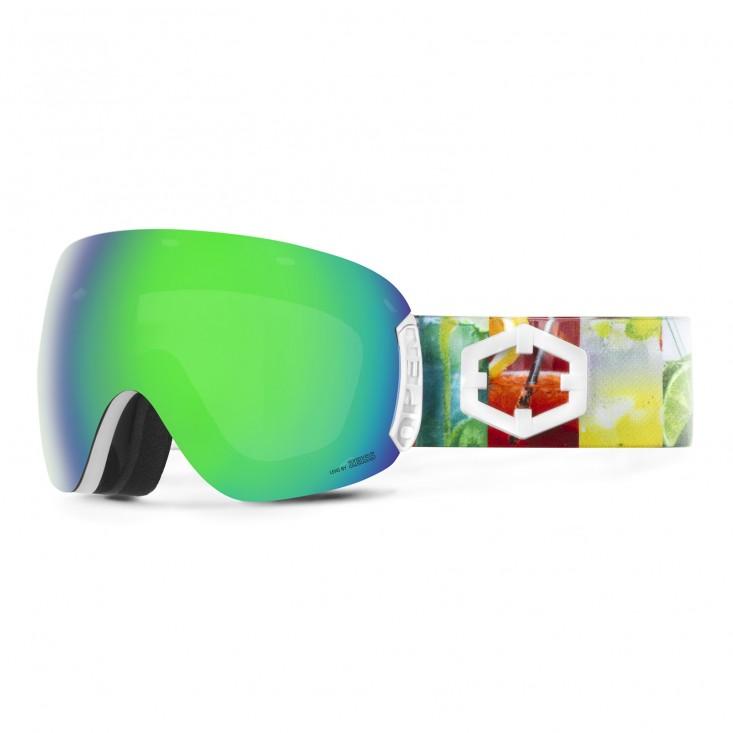 Open Apres Ski Green MCI Maschera Snowboard + Pesimmon Bonus Lens