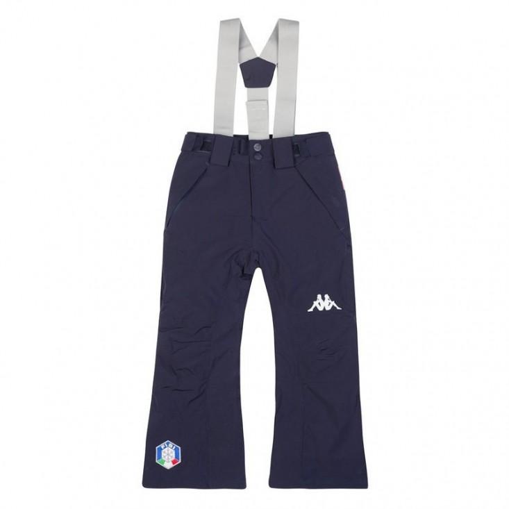 Kappa 6Cento 689 Junior Blue - pantaloni sci bambino | Mancini Store