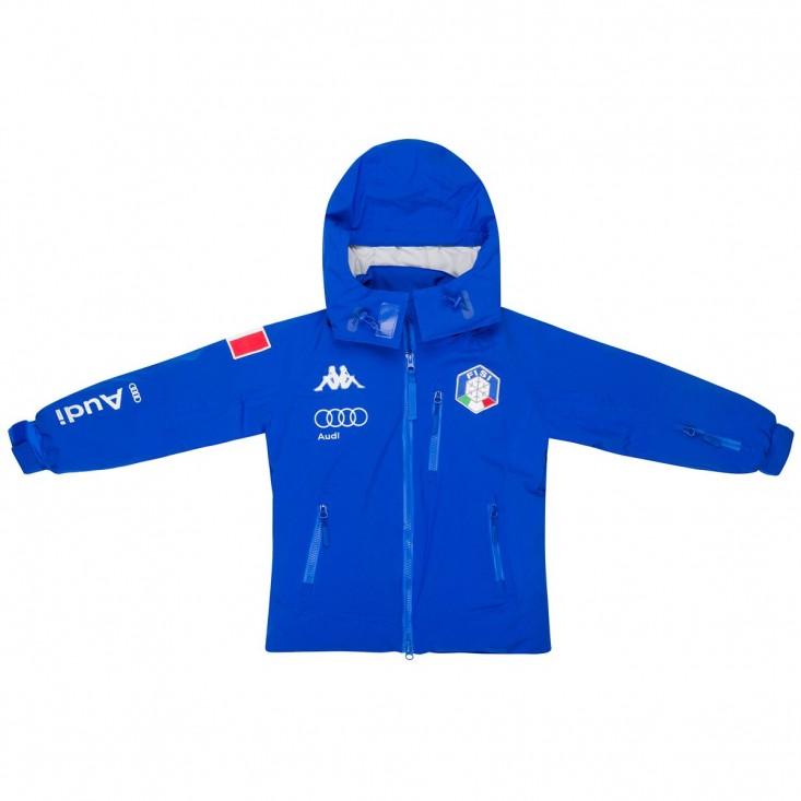 Kappa 6Cento 686 Junior azzurra - giacca da sci bambino | Mancini Store